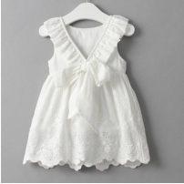 Dress white female Other / other 7(90cm),9(100cm),11(110cm),13(120cm),15(130cm) Other 100% summer Korean version Skirt / vest Solid color other A-line skirt F0032 2 years old, 3 years old, 4 years old, 5 years old, 6 years old