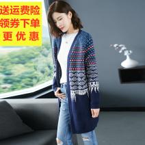 Wool knitwear Autumn 2020 M,L,XL,XXL,XXXL Long sleeves singleton  Cardigan other More than 95% Medium length Thin money commute easy V-neck routine other Korean version