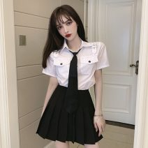 Fashion suit Spring 2021 S,M,L White with tie, black with tie, white with black suit, black with black suit 18-25 years old cotton