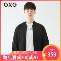 Jacket GXG Youth fashion black 165/S,170/M,175/L,180/XL,185/XXL,190/XXXL routine standard Other leisure spring Polyester 100% Long sleeves Wear out Baseball collar Youthful vigor youth routine Zipper placket other other