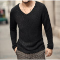 T-shirt / sweater Mixlimited / men's Club Fashion City Black, deep Khaki M,L,XL,2XL,3XL routine Socket V-neck Long sleeves J603 spring and autumn Slim fit leisure time Basic public routine