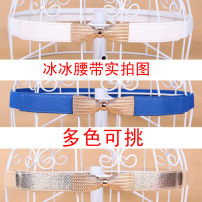 Belt / belt / chain Pu (artificial leather) White, black, gold, rose female Waistband Sweet Single loop Youth, youth, middle age bow Glossy surface alloy Tightness