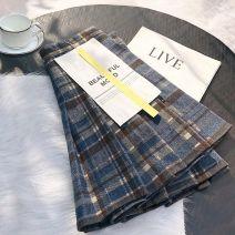 skirt Winter 2020 XS 1 foot 8 (70-80 Jin), s 1 foot 9 (81-94 Jin), M 2 foot 1 (95-102 Jin), L 2 foot 1 (103-110 Jin), XL 2 foot 2 (111-118 Jin), XXL 2 foot 3 (119-128 Jin), XXXL 2 foot 4 (129-134 Jin) Short skirt commute High waist Pleated skirt lattice Type A 18-24 years old WH6861 Wool