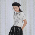 T-shirt White black S M L Spring 2021 Short sleeve stand collar Self cultivation have cash less than that is registered in the accounts routine Viscose 96% and above 25-29 years old other UEOO B21110043 Splicing Viscose fiber (viscose fiber) 96% polyurethane elastic fiber (spandex) 4%