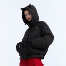 Down Jackets Winter 2020 UEOO Black red S M L White duck down 90% have cash less than that is registered in the accounts Long sleeves thickening zipper Hood commute Animal design D2052470Y 150g (including) - 200g (excluding) literature Printed zipper 25-29 years old 96% and above polyester fiber