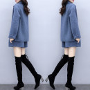 Fashion suit Winter 2020 S,M,L,XL,XXL,XXXL The blue two-piece suit has no wool collar, and the blue two-piece suit has wool collar