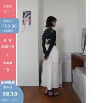 Dress Spring 2021 white Average size longuette singleton  commute Solid color camisole Korean version 71% (inclusive) - 80% (inclusive)