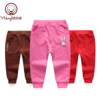 trousers Yobeyi / youbeiyi neutral 80cm,90cm,100cm,110cm,120cm,130cm,140cm spring and autumn trousers leisure time No model Casual pants middle-waisted cotton Cotton 96% polyurethane elastic fiber (spandex) 4% Y16362266-22 Class A Y16362266