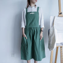 apron Light gray, light blue, dark blue, dark green, pink Sleeveless apron antifouling Simplicity pure cotton Household cleaning Average size djj008 Capriccio public yes Solid color
