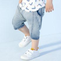 trousers singbail neutral 90cm,100cm,110cm,120cm,130cm,140cm Denim blue summer No model Cotton 98% polyurethane elastic fiber (spandex) 2% Class B 2 years old, 3 years old, 4 years old, 5 years old, 6 years old, 7 years old, 8 years old Chinese Mainland