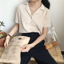 shirt Apricot, white, red Average size Spring 2021 other 96% and above Short sleeve commute routine Solid color 18-24 years old Other / other