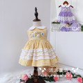 Dress female Other / other 80cm,90cm,100cm,110cm,120cm,130cm Cotton 100% summer fresh Skirt / vest lattice cotton A-line skirt 12 months, 18 months, 2 years old, 3 years old, 4 years old, 5 years old, 6 years old