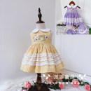 Dress female Other / other 80cm,90cm,100cm,110cm,120cm,130cm Cotton 100% summer fresh Skirt / vest lattice cotton A-line skirt 12 months, 18 months, 2 years old, 3 years old, 4 years old, 5 years old, 6 years old