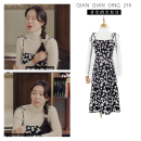 Dress Spring 2020 Base sweater, suspender skirt S,M,L,XL Middle-skirt Two piece set Sleeveless Sweet A-line skirt camisole Type A knitting cotton