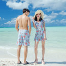 Couple swimsuit Qihai Women's, men's nylon female