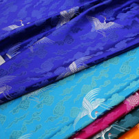 Fabric / fabric / handmade DIY fabric blending Black, orange, royal blue, rose red, ha Qing, lake blue, coffee, jujube, note 1 is 0.5m Loose shear piece Others jacquard weave clothing Chinese style brocade Chinese Mainland