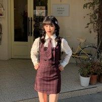 Fashion suit Spring 2021 S. M, l, average size Shirt, vest, skirt, tie 31% (inclusive) - 50% (inclusive)