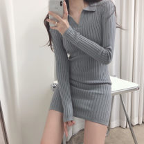 Dress Spring 2021 Gray, white, black Average size