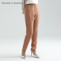 Casual pants Grayish blue and yellowish brown 160XS 165S 170M 175L Autumn 2020 trousers Straight pants Natural waist Sweet routine 0WBELGPPANW445 bread n butter Polyester 92.5% polyurethane elastic fiber (spandex) 7.5% Same model in shopping mall (sold online and offline) Ruili