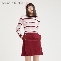 Wool knitwear Autumn 2020 160XS 165S 170M 175L oxblood red Long sleeves Socket acrylic fibres 31% (inclusive) - 50% (inclusive) Regular routine Sweet 0WBELGPTOPK448 25-29 years old bread n butter Same model in shopping mall (sold online and offline) Ruili