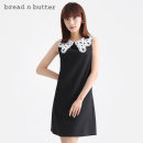 Dress Spring 2021 black 160XS 165S 170M 175L Short skirt singleton  Sleeveless Sweet Doll Collar Loose waist Solid color zipper A-line skirt other Others 25-29 years old Type H bread n butter Three dimensional decorative lace in pocket 1SB0BNBDRSW177000 71% (inclusive) - 80% (inclusive) other Ruili
