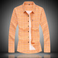 shirt Youth fashion Others M,L,XL,2XL,3XL,4XL,5XL,6XL,7XL Pink, orange routine Pointed collar (regular) Long sleeves standard Other leisure spring Large size 2020 lattice