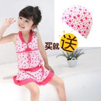 Children's swimsuit / pants Xiao San Pang female polyester fiber