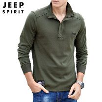 Sweater Fashion City Jeep / Jeep Black, grey, army green, royal blue M,L,XL,2XL,3XL Solid color Socket routine stand collar spring easy motion Large size tide routine 19MB103PS0004 cotton Zipper decoration No iron treatment zipper