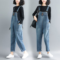 trousers Other / other female blue spring and autumn trousers leisure time There are models in the real shooting Jeans Cotton denim Don't open the crotch Other 100% other Type * undetermined 7, 8, 9, 10, 11, 12, 13, 14 Chinese Mainland
