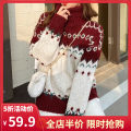 Women's large Spring 2021 Red collar JH S M L XL 2XL 3XL 4XL sweater singleton  commute easy moderate Socket Long sleeves Korean version High collar routine routine 1-03C5409G-NG Yifengweier 18-24 years old Pure e-commerce (online only)