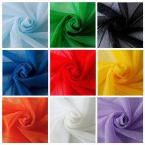 Fabric / fabric / handmade DIY fabric chemical fiber Loose shear rice Solid color clothing Japan and South Korea Hall 3
