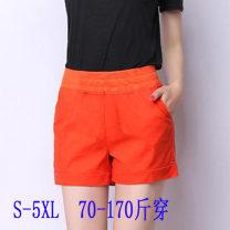 Casual pants S,M,L,XL,2XL,3XL,4XL,5XL Summer 2020 shorts Wide leg pants Natural waist commute Thin money 25-29 years old pocket cotton