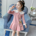 Dress Pink, yellow, pink + bag, Yellow + bag, 201 pink, 106 pink, 106 yellow, 105 pink, 105 Navy female Other / other 100cm,110cm,120cm,130cm,140cm,150cm Other 100% spring and autumn Korean version Long sleeves Solid color cotton Lotus leaf edge Autumn skirt Class B Chinese Mainland Zhejiang Province