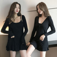 Fashion suit Autumn of 2019 S,M,L Classic black 18-25 years old Other / other cotton