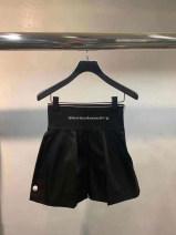 Casual pants black S,M,L Summer 2020 shorts Wide leg pants High waist Versatile routine 51% (inclusive) - 70% (inclusive) nylon Embroidery nylon