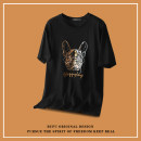 T-shirt Youth fashion White, black routine M,L,XL,2XL Others Short sleeve Crew neck easy daily summer youth routine tide Animal design cotton Animal design No iron treatment More than 95%