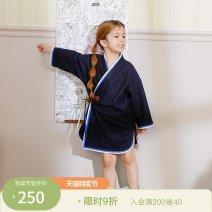 Home Gown / Nightgown 100cm 110cm 120cm Cotton 36.5% flax 33% polyacrylonitrile 30.5% Black (Unisex) Coco female Four, five, six, seven DC201DP262 Spring 2020