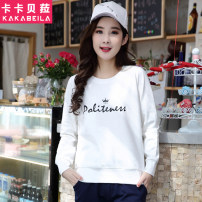 Sweater / sweater Spring of 2019 XXL,S,M,L,XL Long sleeves routine Socket singleton  routine Crew neck easy commute routine letter 18-24 years old 71% (inclusive) - 80% (inclusive) Korean version cotton printing