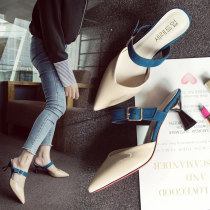 Low top shoes 35 36 37 38 39 Sakura Kawabata White, black, apricot Sharp point Thick heel Patent leather Shallow mouth High heel (5-8cm) PU Summer of 2018 Trochanter Sweet Adhesive shoes Youth (18-40 years old) Solid color rubber Single shoes Shallow flower diamond with thick metal decoration PU One