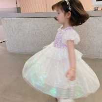 Dress Mermaid beauty female Other / other 90cm,100cm,110cm,120cm,130cm,140cm Other 100% spring and autumn lady Short sleeve Solid color other Fluffy skirt Class B 18 months, 2 years old, 3 years old, 4 years old, 5 years old, 6 years old Chinese Mainland Zhejiang Province Huzhou City