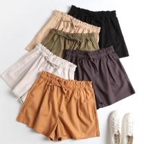 Casual pants Black, khaki, army green, cyan, orange, beige# S,M,L,XL shorts High waist Versatile