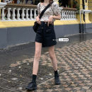 Fashion suit Summer 2021 S. M, l, average size Black shorts 8209, amber Chiffon Top 2998 Under 17 31% (inclusive) - 50% (inclusive)