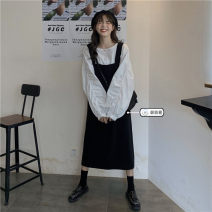 Dress Summer 2021 Shirt 2839, suspender 2841# Average size Middle-skirt singleton  Sleeveless commute other Loose waist Solid color Socket A-line skirt routine Others Under 17 Type H Korean version 51% (inclusive) - 70% (inclusive)