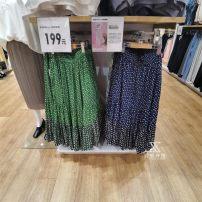 skirt Summer 2021 S,M,L,XL Cream, green, dark blue, camel Mid length dress Versatile Natural waist A-line skirt Decor Type A 25-29 years old 81% (inclusive) - 90% (inclusive) other pocket