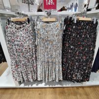 skirt Summer 2021 S,M,L,XL milky white , black , wathet Middle-skirt Versatile Natural waist A-line skirt Type A 18-24 years old More than 95% other