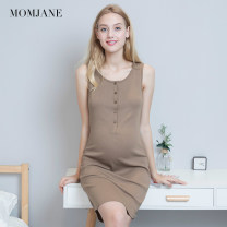 Nursing clothes M L XL 2XL Mom Jane Front buckle summer Sleeveless Medium length leisure time vest Solid color viscose  JB80130