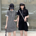 T-shirt Gray, black M,L,XL Summer 2021 Short sleeve Crew neck Straight cylinder Medium length routine commute cotton 30% and below 18-24 years old Korean version classic Solid color Button