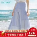 skirt Summer 2020 S,M,L,XL Pearl White pre-sale 7.9 delivery, pink blue Mid length dress Versatile High waist A-line skirt other Type A 25-29 years old 180_ TM2084a More than 95% other Inman / Inman cotton fold