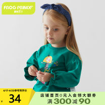 Sweater / sweater Frog Prince Purple green female 90cm 100cm 110cm 120cm spring and autumn nothing leisure time Socket routine There are models in the real shooting cotton other Cotton 94% polyurethane elastic fiber (spandex) 6% Class A Autumn of 2019
