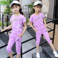 suit Other / other female summer Korean version Short sleeve + pants 2 pieces routine There are models in the real shooting Socket nothing cotton children Giving presents at school Class B Cotton 95% polyurethane elastic fiber (spandex) 5% Chinese Mainland Guangdong Province Foshan City
